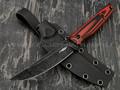 """Нож """"Scar"""" сталь X105 blackwash, рукоять G10 black & red"""