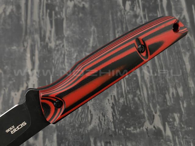 N.C.Custom нож Scar сталь X105 blackwash, рукоять G10 black & red