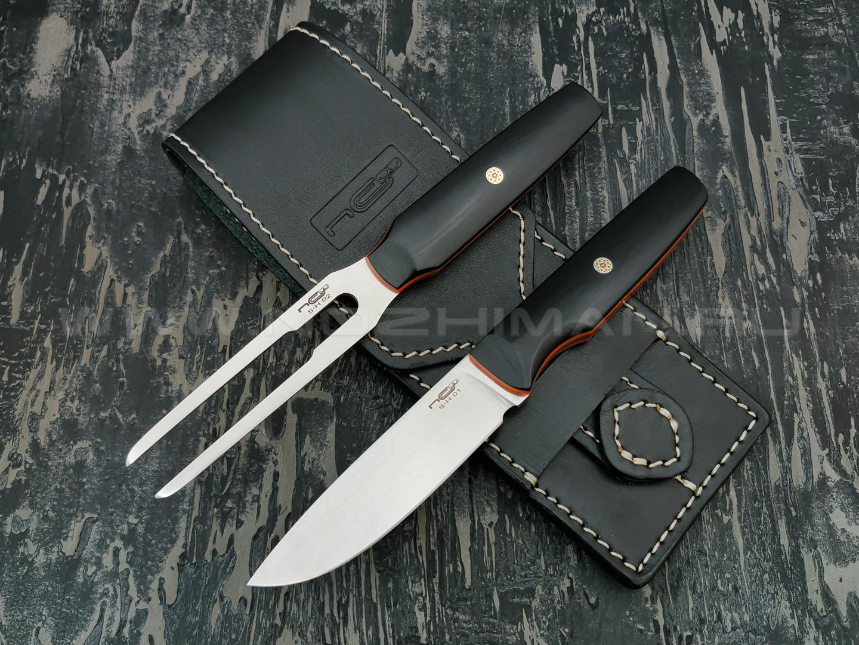 N.C.Custom набор для мяса Set Hunting сталь Niolox satin, рукоять G10