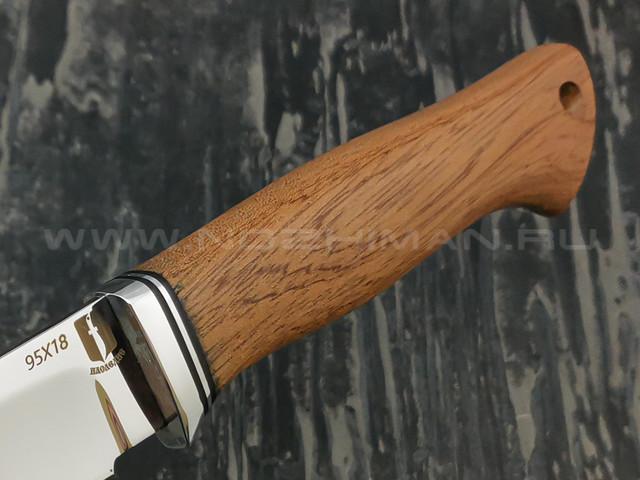 "Нож ""Атаман"" сталь 95Х18, рукоять бубинга (Наследие)"