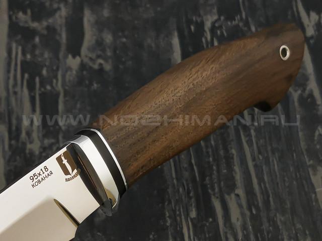 """Нож """"Ворсма"""" сталь 95Х18, рукоять орех (Наследие)"""