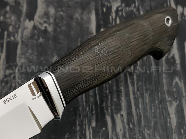 "Нож ""Граф"" сталь 95Х18, рукоять морёный дуб (Наследие)"