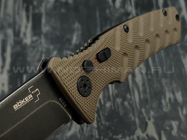 Нож Boker Plus Strike Coyote Spearpoint 01BO424, сталь Aus 8, рукоять Aluminum 6061 T-6