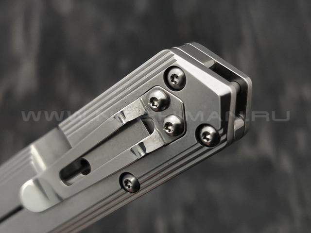 Нож Boker Plus Kwaiken Flipper Framelock 01BO269, сталь D2, рукоять Stainless Steel