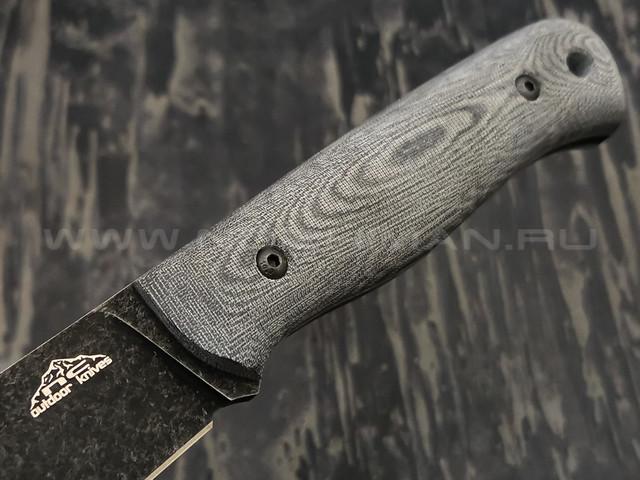 N.C.Custom нож Booster сталь X105 blackwash, рукоять микарта, ножны kydex