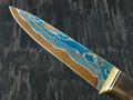 """Нож """"Ладья"""" дамасская сталь, рукоять карельская береза (Тов. Завьялова)"""