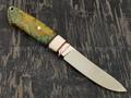 """Нож """"Скинер-Б"""" сталь S125V, рукоять кап клёна, клык моржа, бронза (Тов. Завьялова)"""