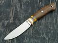 """Нож """"Скинер-М"""" сталь CPM 121 Rex, рукоять кап дуба, мокуме, зуб мамонта (Наследие)"""