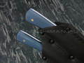 Набор для мяса, нож и вилка сталь N690, рукоять G10 (Наследие)