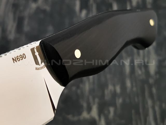 """Нож """"Додичи"""" сталь N690, рукоять дерево граб (Наследие)"""
