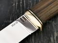 """Нож """"Ладья"""" сталь 95Х18, рукоять морёный дуб, латунь (Наследие)"""