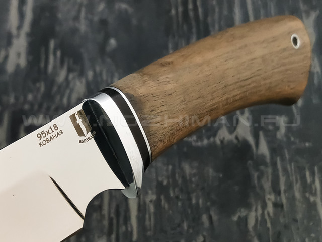 """Нож """"Аврора"""" сталь 95Х18, рукоять дерево орех (Наследие)"""