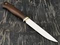 """Нож """"Осётр-2"""" сталь D2, рукоять термоясень, латунь (Тов. Завьялова)"""