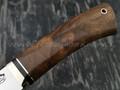 """Нож """"Аврора"""" сталь Sleipner, рукоять корень ореха, латунь (Тов. Завьялова)"""
