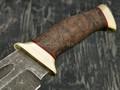 """Нож """"Пустынный орел"""" булатная сталь, рукоять карельская береза, латунь (Тов. Завьялова)"""