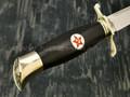 """Нож """"Финка НКВД"""" сталь K340, рукоять дерево граб с красной звездой (Наследие)"""