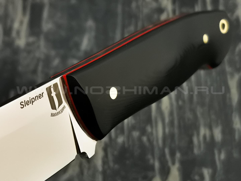"""Нож """"Цезарь"""" сталь Sleipner, рукоять G10 black (Наследие)"""