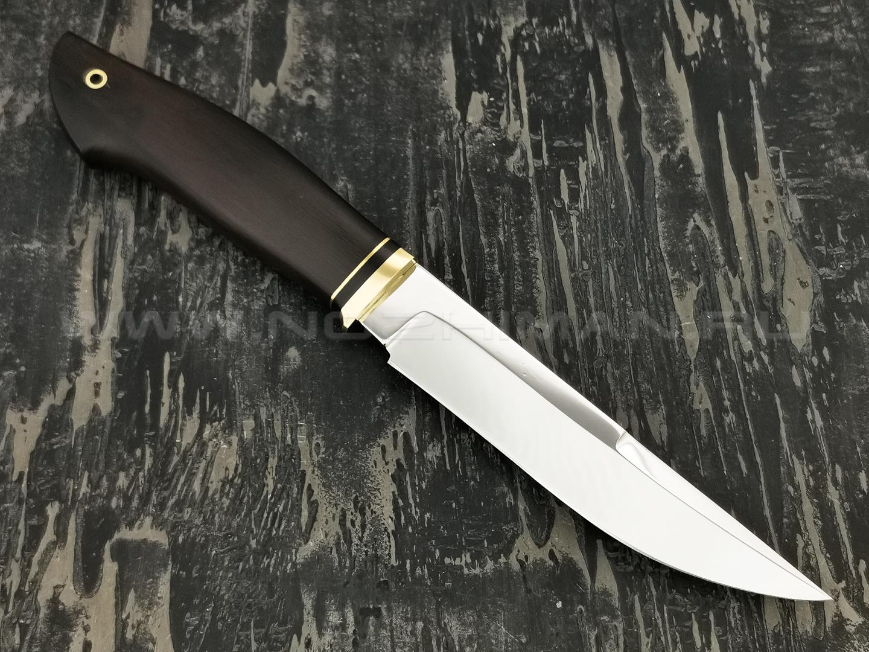 """Нож """"Граф"""" сталь 95Х18, рукоять дерево граб, латунь (Наследие)"""