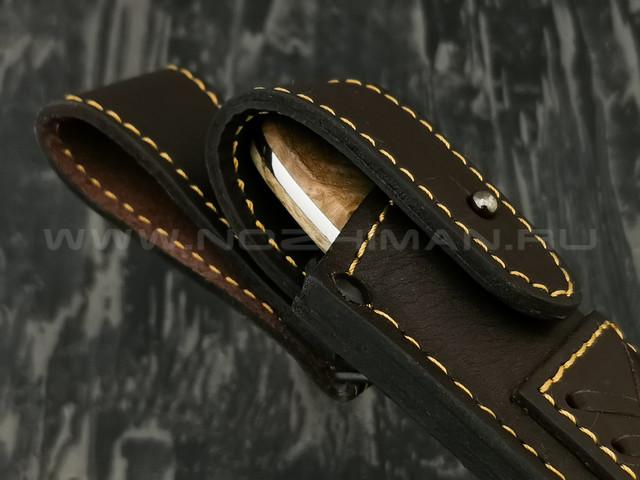 """Нож """"Сити"""" сталь N690, рукоять берёзовый сувель (Наследие)"""