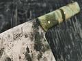"""Нож """"Сербский шеф"""" сталь Х12МФ, рукоять карельская береза (Тов. Завьялова)"""