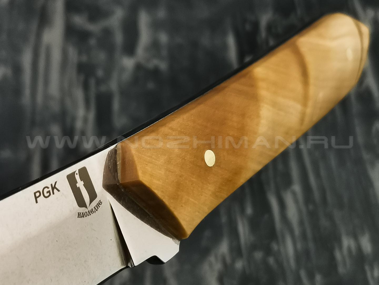"""Нож """"Танто-Б"""" сталь PGK, рукоять берёзовый сувель (Наследие)"""