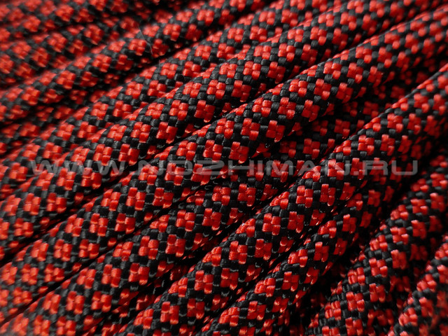 Paracord 550 Fire Red Diamond