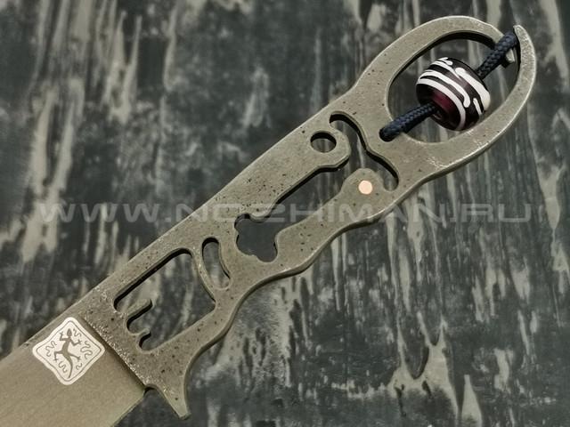 """1-й Цех нож """"Дед"""" сталь K110, рукоять сталь"""