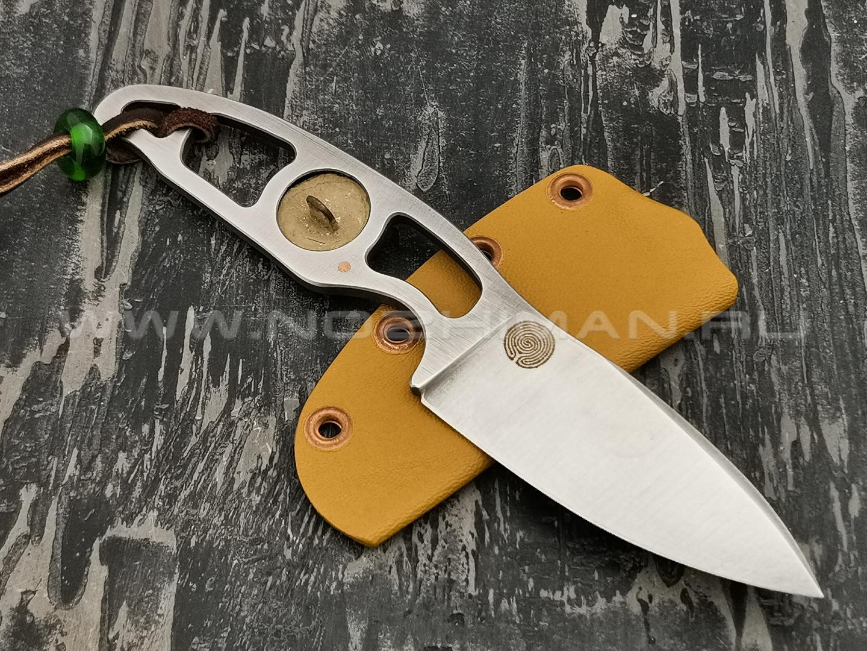 """1-й Цех нож """"Капсула времени"""" сталь K110, рукоять сталь"""