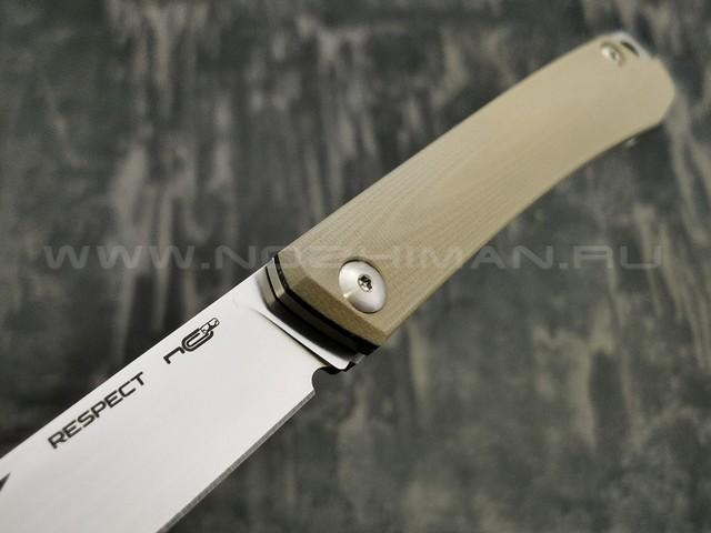 N.C.Custom нож Respect сталь X105, рукоять G10 Tan