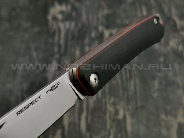 N.C.Custom нож Respect сталь X105, рукоять G10 Black & Red