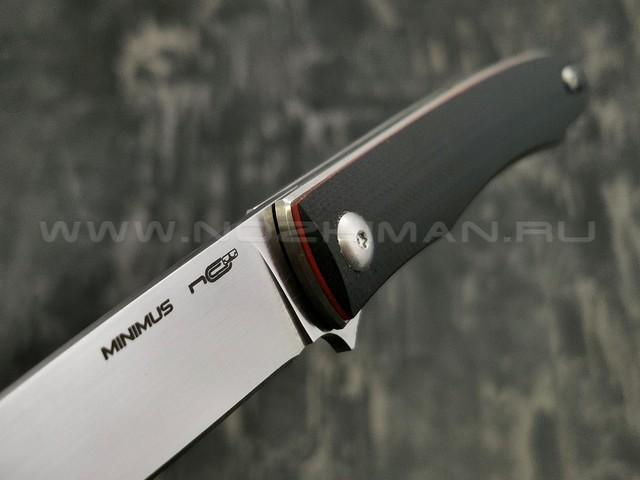 N.C.Custom нож Minimus сталь X105, рукоять G10 Black & Red