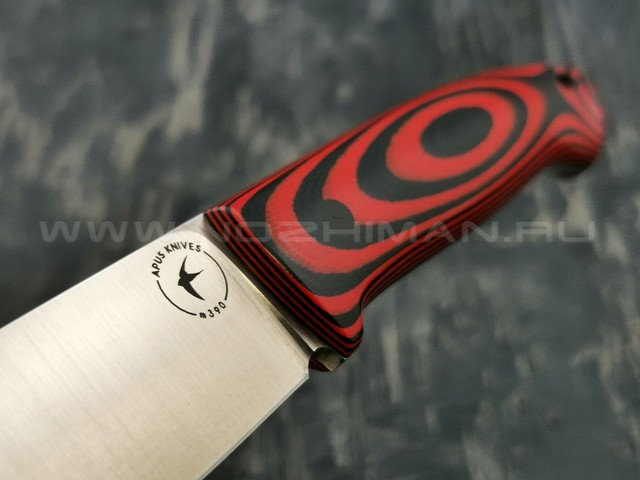 Apus Knives нож Guard Dog сталь M390 рукоять G10 Black & Red