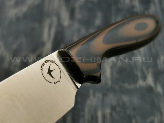 Apus Knives нож Wilson сталь K110 рукоять G10 Black & Brown