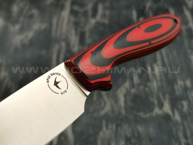 Apus Knives нож Wilson сталь K110 рукоять G10 Black & Red