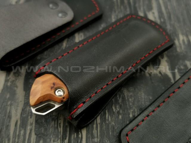 Чехол для складного ножа N.C.Custom, черная кожа