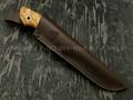 Кметъ нож Скинер сталь Elmax рукоять стаб. карельская береза, мельхиор