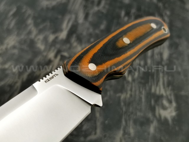 Кметъ нож Акула сталь 95Х18 рукоять микарта