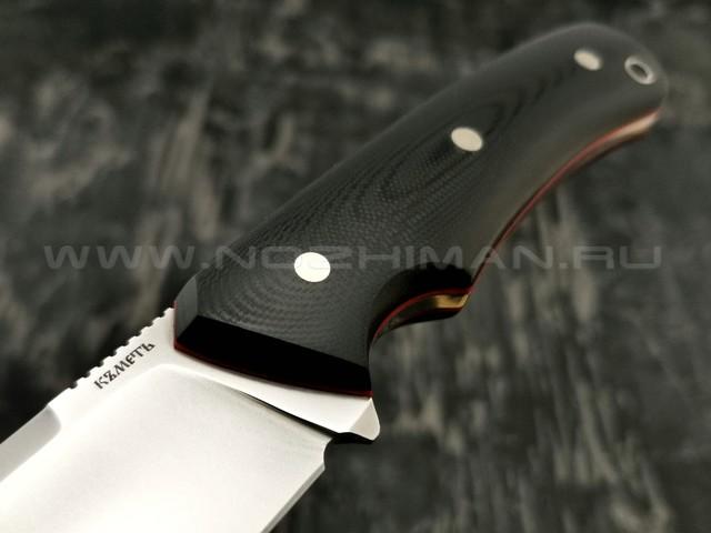 Кметъ нож Акула сталь M390 рукоять G10 black