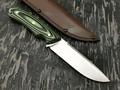 Кметъ нож Акула сталь PGK, рукоять G10 black & green