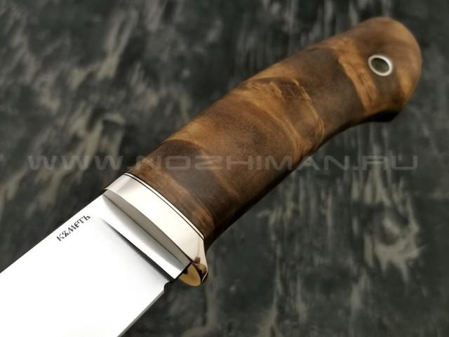 Кметъ нож Клык сталь Vanadis 10 рукоять стаб. корень дуба, мельхиор