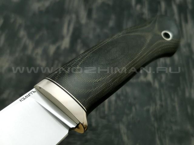 Кметъ нож Панцуй сталь Vanadis 8 рукоять микарта, мельхиор