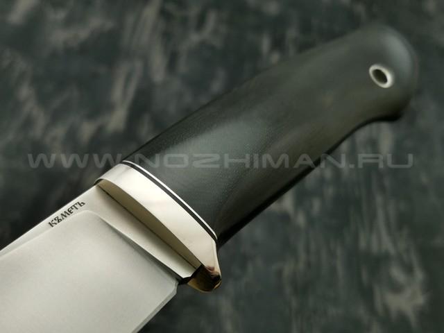 Кметъ нож Панцуй сталь Vanadis 4 Extra рукоять микарта, мельхиор