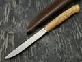 Кметъ нож Шило сталь Elmax рукоять стаб. карельская береза, мельхиор