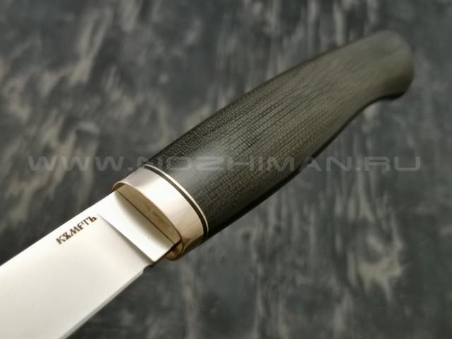 Кметъ нож Шило-1 сталь Vanax 37 рукоять микарта, мельхиор