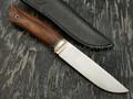 Кметъ нож Панцуй сталь CPM S35VN рукоять айронвуд, мельхиор
