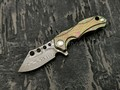 TuoTown нож Micro-5 нержавеющий дамаск, рукоять Titanium