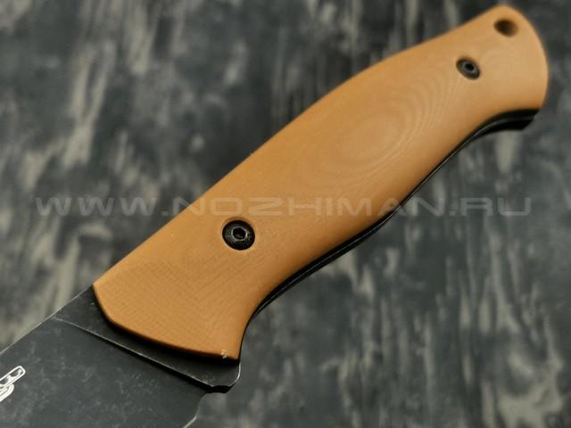 N.C.Custom нож Pride сталь D2 blackwash, рукоять G10 brown