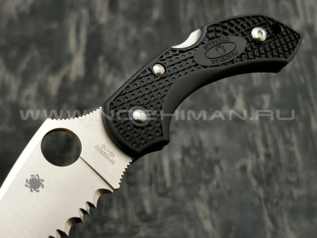 Нож Spyderco Dragonfly 2 C28SBK2 serrated, сталь VG-10 satin, рукоять FRN black