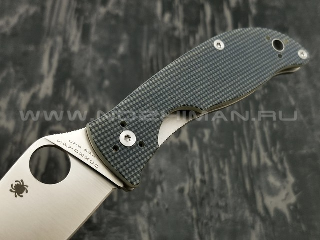 Нож Spyderco Polestar C220GPGY, сталь CTS-BD1 satin, рукоять G10 grey