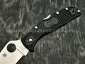 Нож Spyderco Endela Plain C243PBK, сталь VG-10 satin, рукоять FRN black